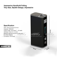 USB rechargeable battery box mod mini 30w ecig vapor cigarette starter kits wholesale