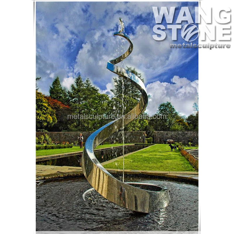 Stainless Steel Garden Metal Water Fountain Sculpture