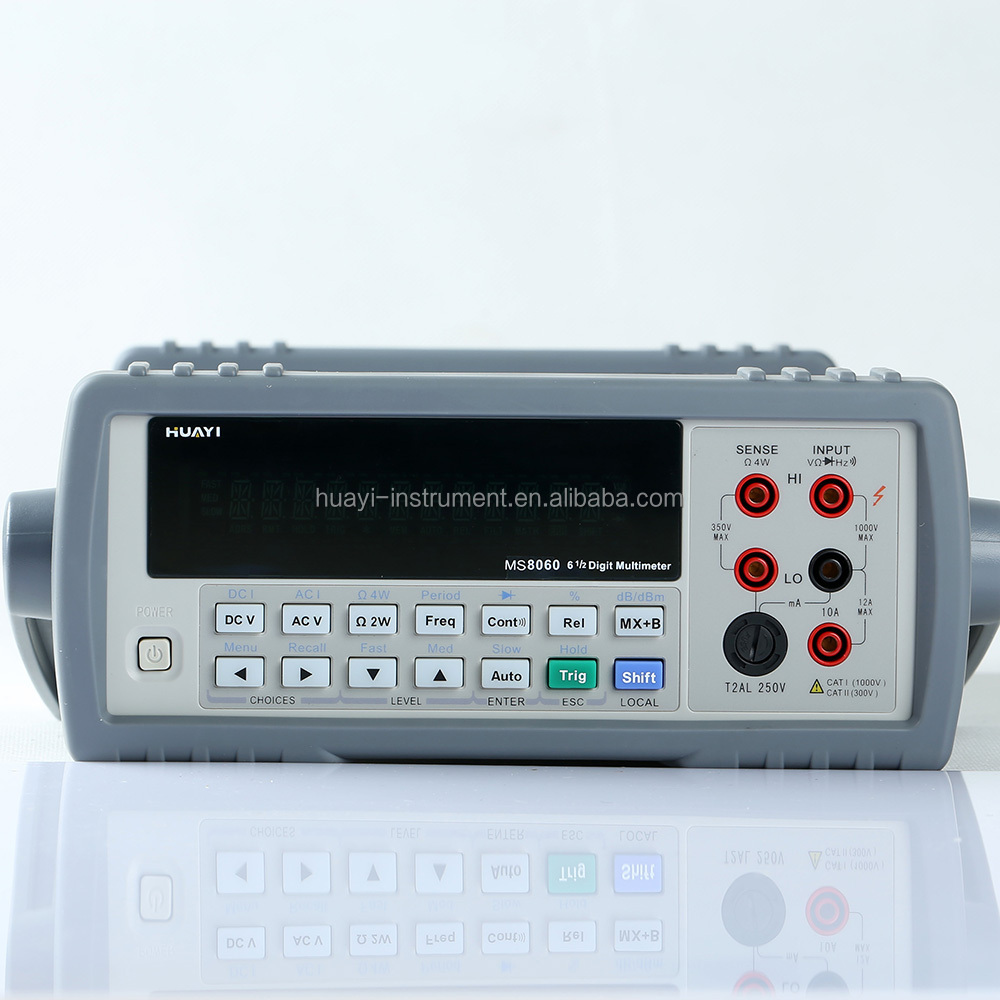 high accuracy Bench type multimeter 120000 digits MS8060 6 1/2 DMM same to fluke multimeter MS8845A,MS8846A