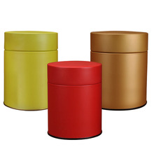Air tight round metal tin box for tea coffee
