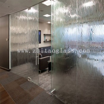 6 fused frosted glass panel garage door