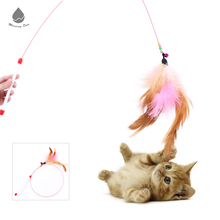 Hot Sale & High Quality Feather Plastic Wand Toys Interactive Cat Toy