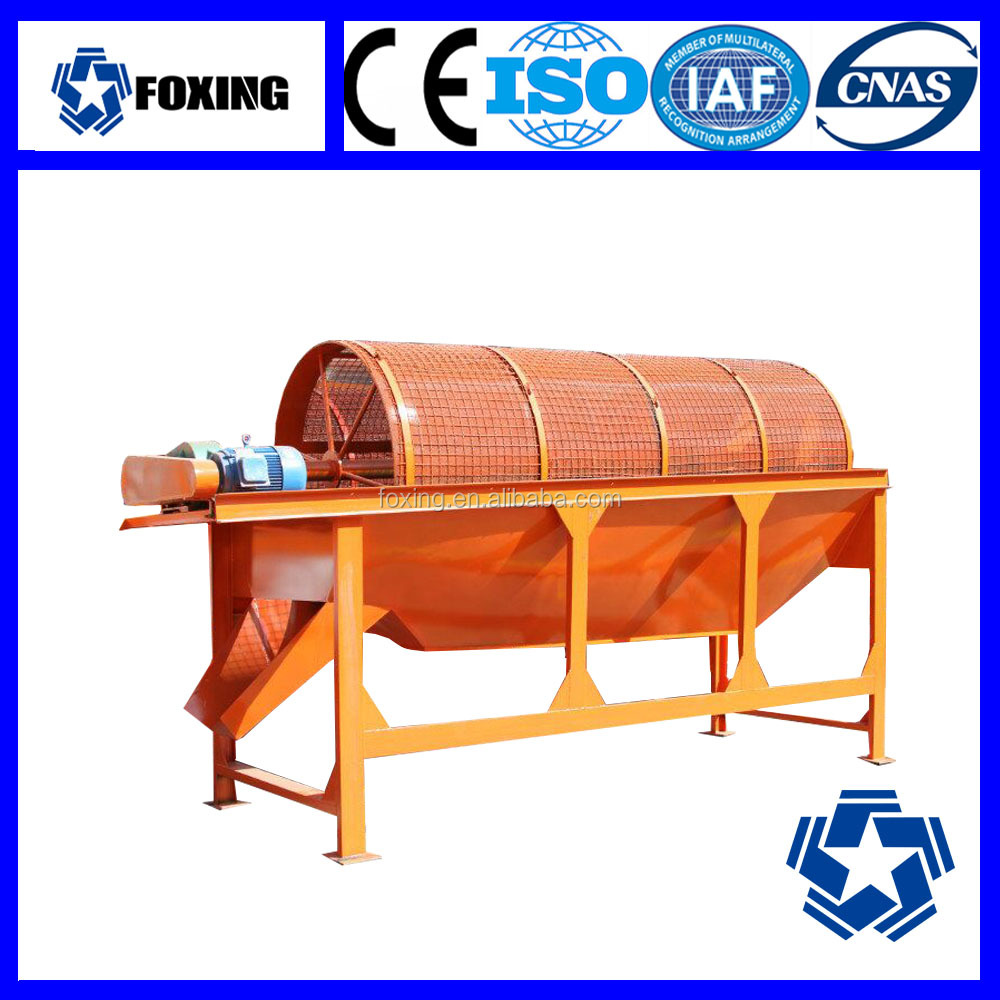 Small scale alluvial gold mining equipment of trommel screen