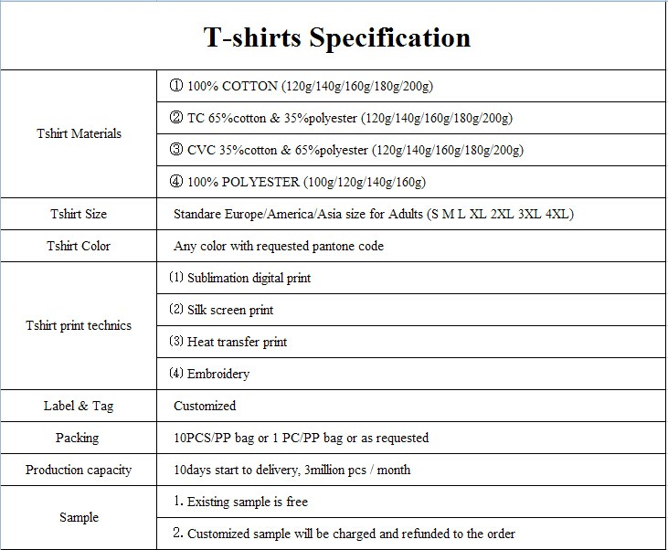 Promotional print round-neck t shirt
