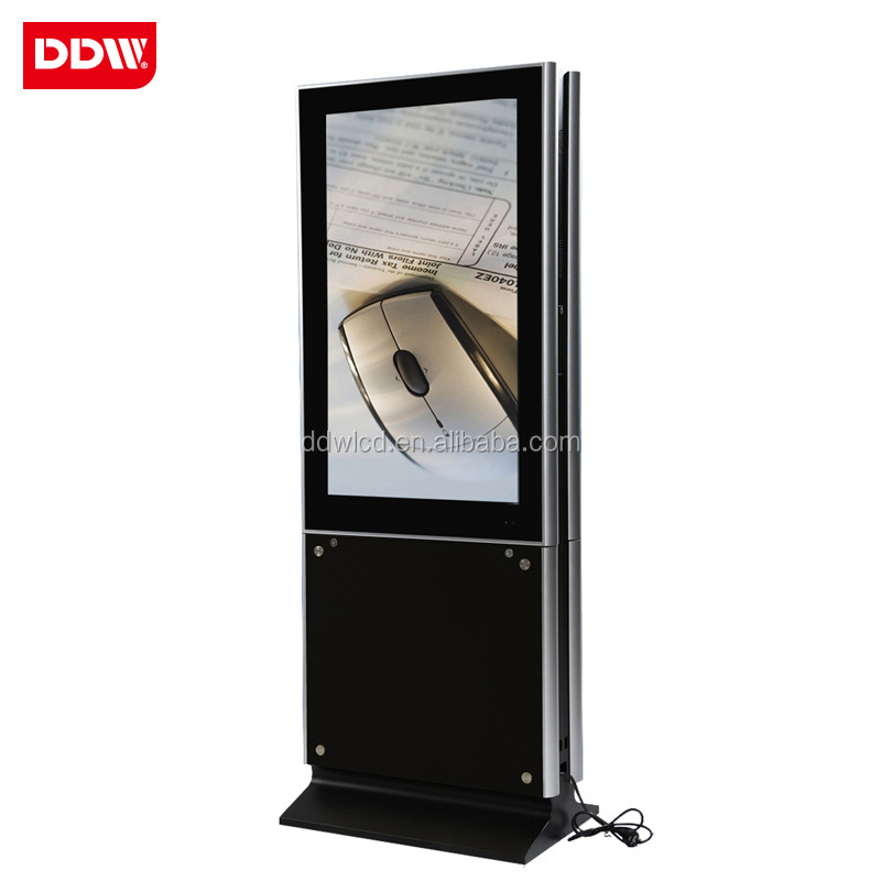 Full HD and 3G/wifi floor stand 55'' dual/double sides digital signage player/advertising LCD display