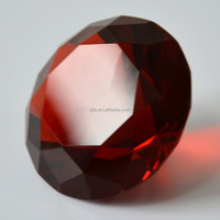 Wholesale alibaba red crystal diamond paperweight 50mm wedding favor gift