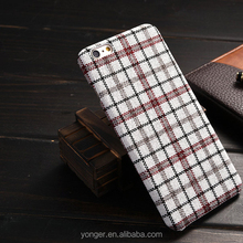 2016 new arrival,england classic style lattice pattern back cover case for iphone 6