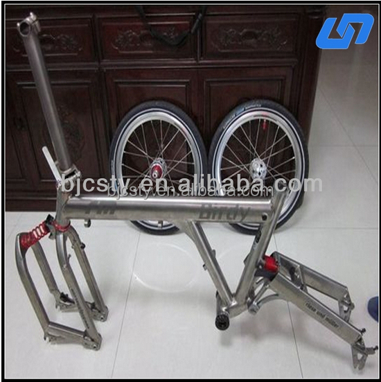 high quality and low price titanium folding bike frame