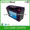 High performance LiFePO4 12V20Ah Battery For automobile