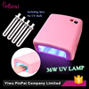 Professional Nail Art Pink and White 36W nail UV Lamp led nail lamp