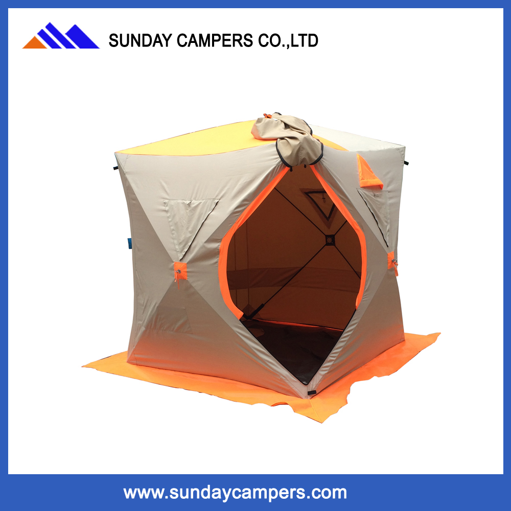 Personalized pop up cotton ice fishing tent with customized logo