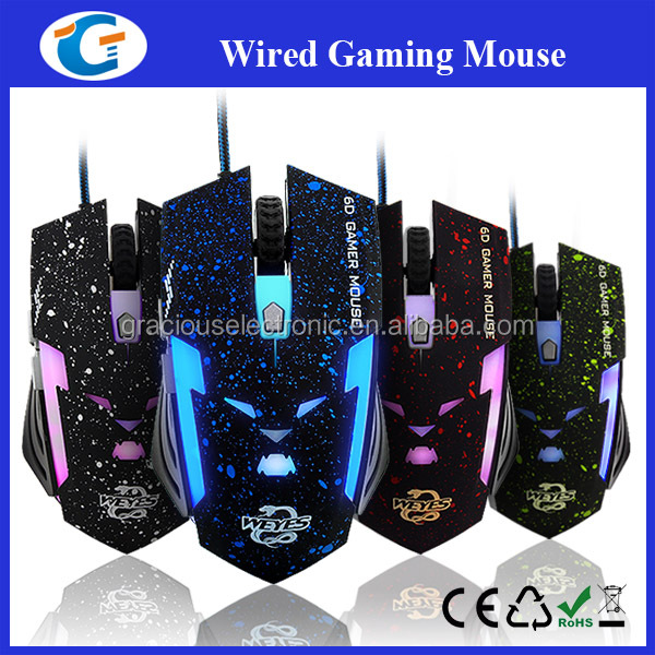 CE/RoHS/ FCC certificate gaming mouse 1600 dpi with professional gaming engine chip