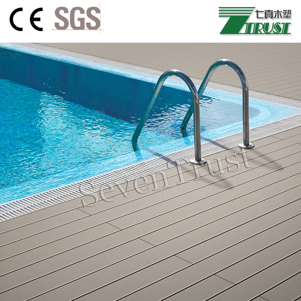 wood plastic composite deck flooring /WPC terrace timber deck/flooring