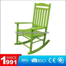 Modern comfortable colorful wooden rocking chair