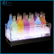Acrylic LED luminous ice bucket with logo,light up the price of a small plastic bucket with handle