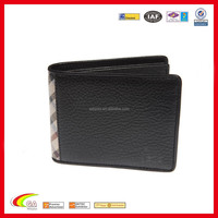 2016 best selling mens genuine leather black 3 folding riid travel wallet