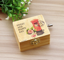 Colorful proper size 2016 most popular wooden music box