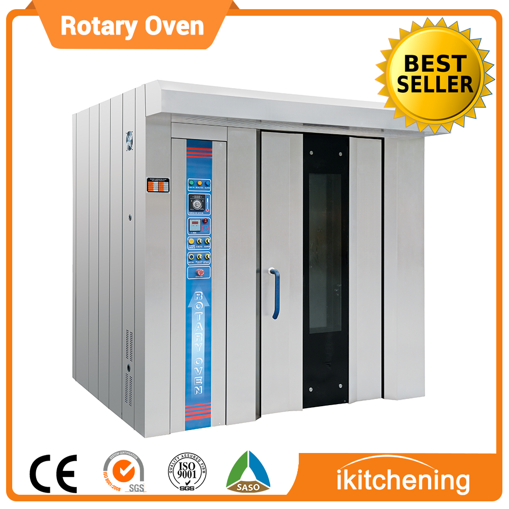 Commercial Automatic Bakery Bread Baking Oven/32 Trays bakery rotary diesel oven