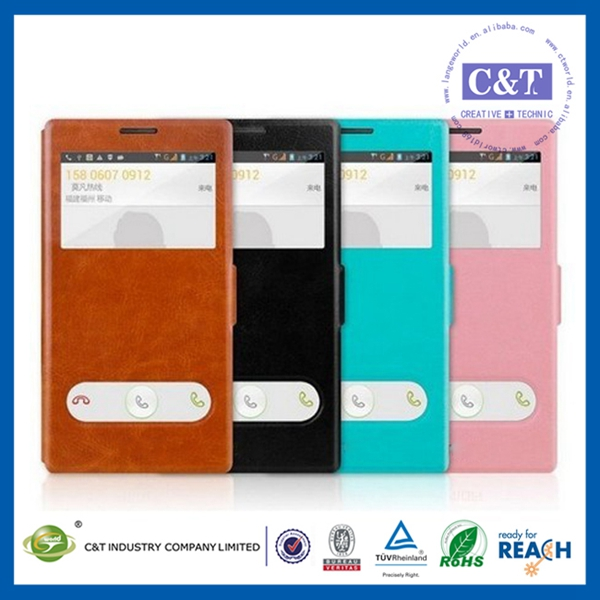 Hot sell beautiful leather cover skin case for lenovo a390