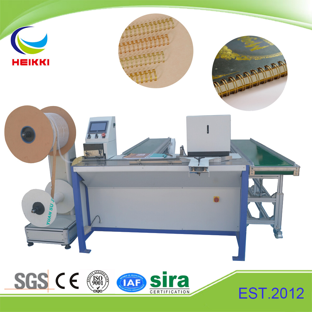 Semi-Automatic High Quality Twin Wire O Ring Closing Binding Machine for Notebooks