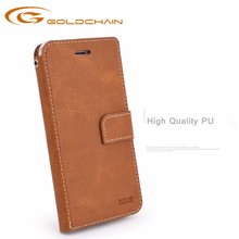 Factory wholesale new products leather phone cover smart phone wallet style leather case for iphone 8