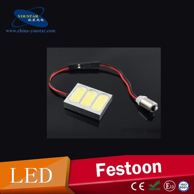Universal White 4.5W LED Car Interior Led Light Led T10 BA9S festoon led dome light adapter for All