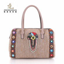 Ladies Straw Paper Bag Woven Handbag Fashion beach Bags for shopping handbag