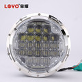 LOYO newest black chrome 7inch 75w led headlight for jeep cherokee headlights
