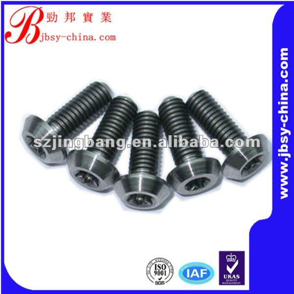 Different colored titanium bolt with different types