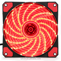 Low noise 120x120mm dc 12v axial fan with 15pcs red led