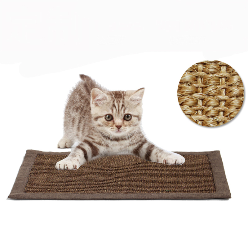 Natural Sisal Hemp Cat Scratching Post Protecting Furniture Grinding Claws Cat Scratcher Toy