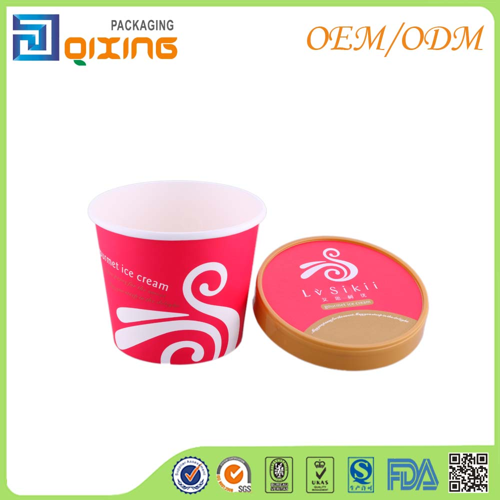Wholesale custom printed ice cream frozen yogurt paper cup with IML