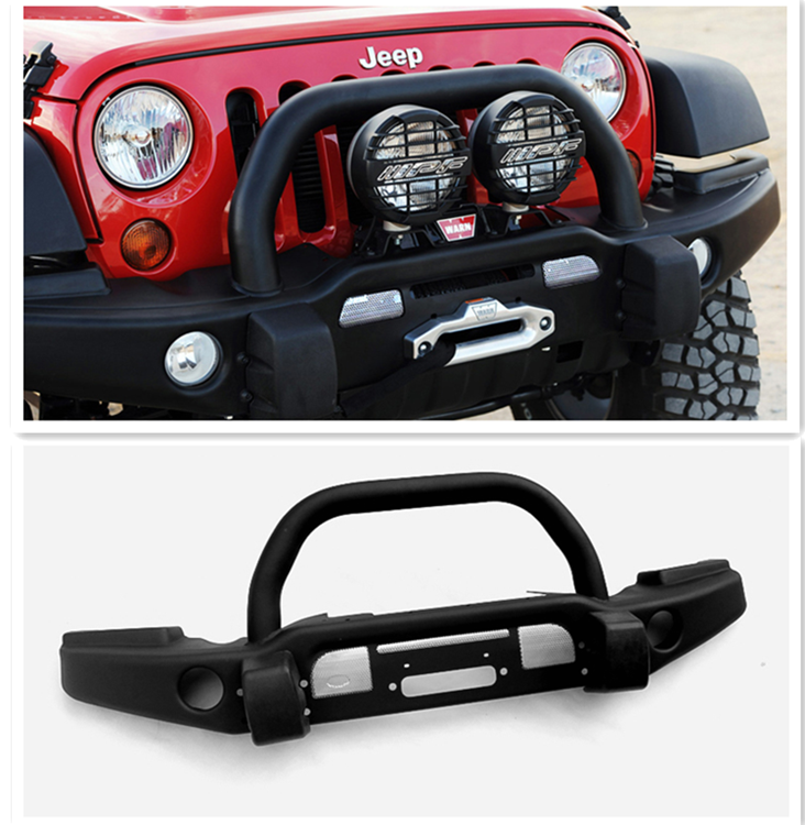 High Quality Black Textured Jeep Wrangler 2007+ Front Bumper