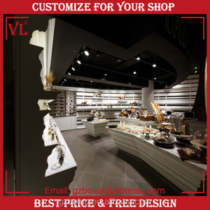 2016 VL Free Solution Design Bakery Retail Shop Counter Acrylic Cupcake Candy Display Case