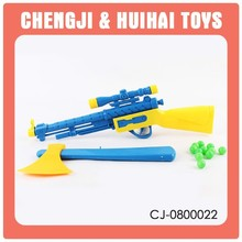 Cheap children plastic balls shooting guns and weapons toys set