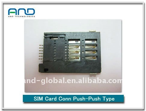 For GSM/GPRS module Sim card socket /push push type Simcard holder