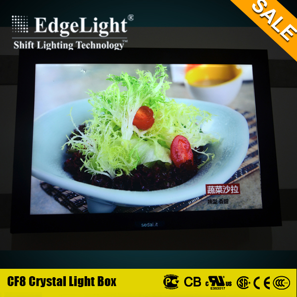 Edgelight High Quality Wholesale A1 A2 A3 A4 notice size led shadow photo display boards