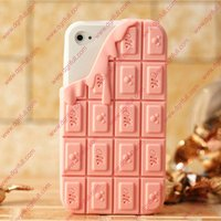 Melting Chocolate cute silicone 3d case for iphone 4
