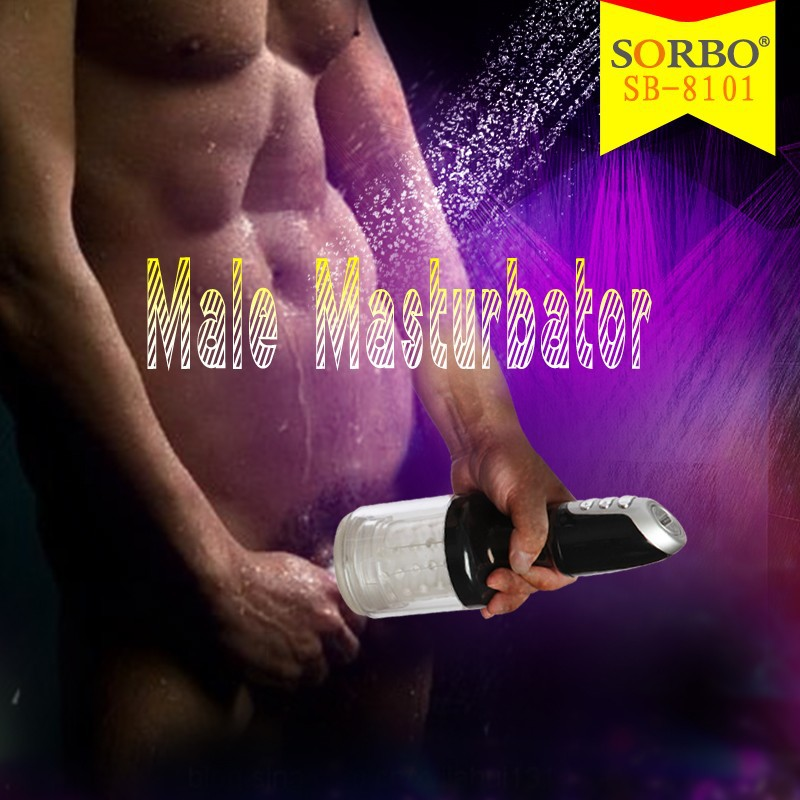 SORBO Rechargeable Washable Hands-free Male Electronic Stimulator,High Speed Men Masturbation Cup Adult Sex Products
