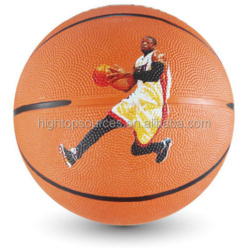 rubber basketball for training and playing durable basketball