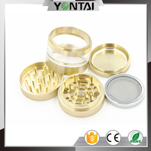 Perfect crush OEM grinder portable herbal tobacco cutting machine with pollen catcher