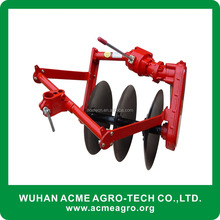 Tractor plowing machine disc plough