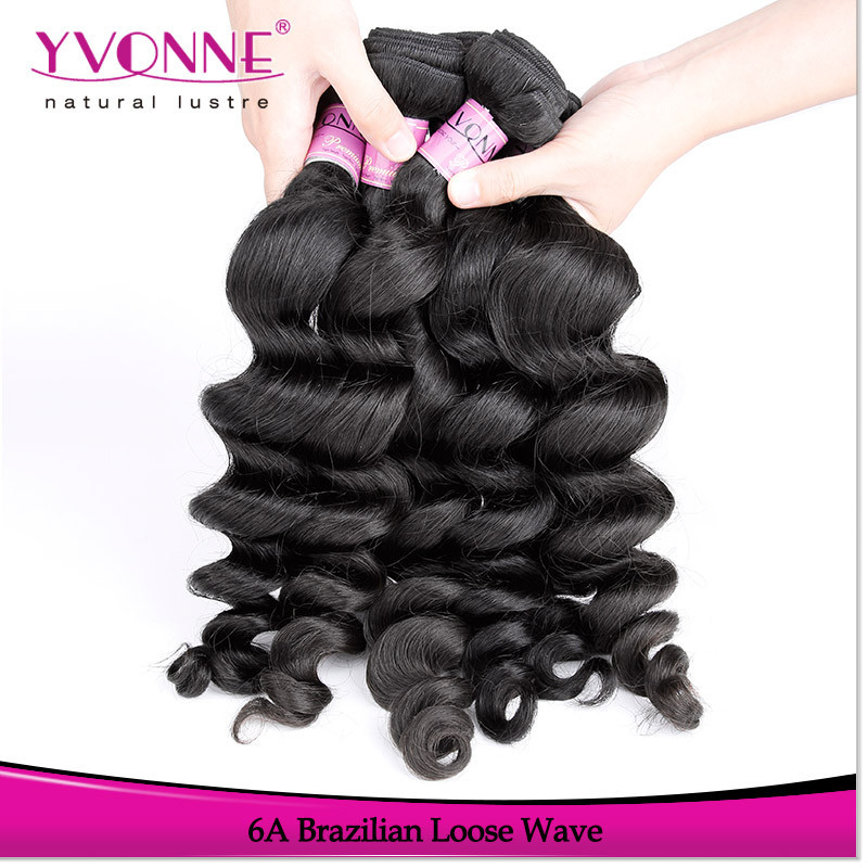 Grade 6a brazilian loose wave natural hair extensions