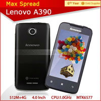 4.0 inch cheap lenovo a390 dual sim 5mp camera 3g china smartphone
