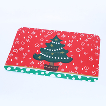 2017 Christmas red elements/gifts printing 3D PP plastic frosted plac 3D PP plastic frosted placemat/table dinning plate mat