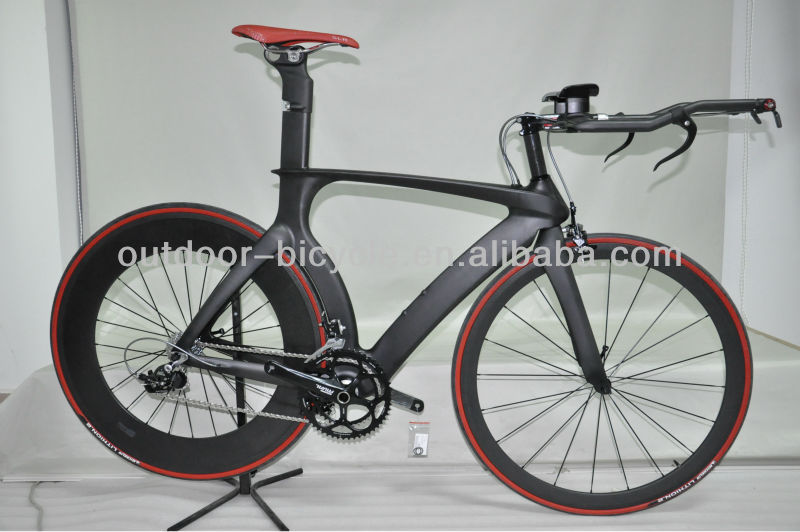 Wholesale 700C oem carbon TT bike frame, time trial carbon triathlon bike including frame, fork & seatpost