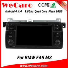 Top Version Android 4.4.4 car dvd oem car dvd player with gps for bmw e46 mirror link A9 cpu