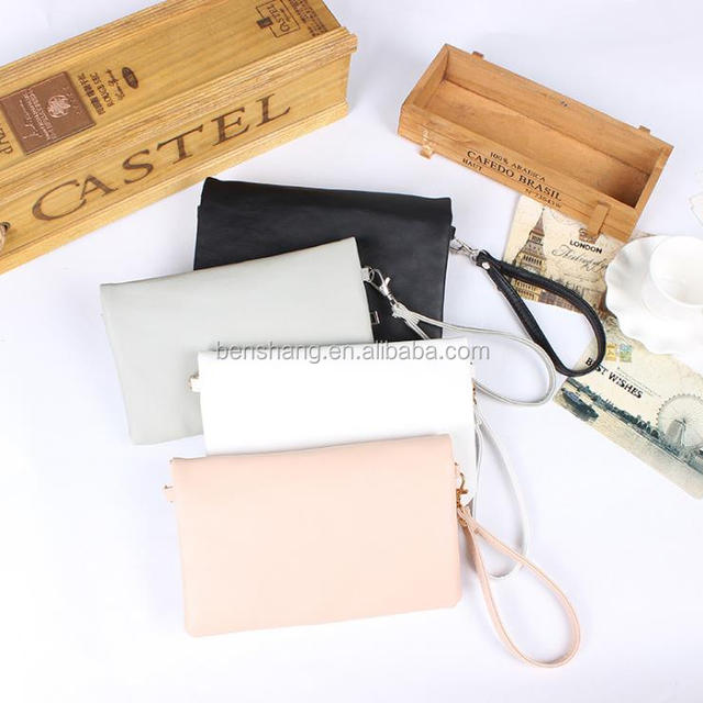 Factory Supply Unisex Wallet With Wrist Strap, PU Leather Purse Men