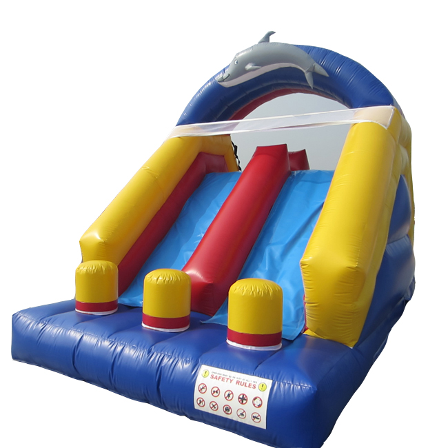 Christmas Promotion backyard kids inflatable dry slide cheap inflatable bouncer slide