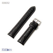 2016 Universal 11.5cm/8.5cm Watch Strap Genuine leather White Line Side Waterproof Watch Band